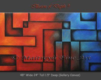 Vind uw favoriete abstracte schilderkunst uit de vele beschikbare ontwerpen in mijn winkel. http://www.etsy.com/shop/largeartwork =========================================================  Tit...