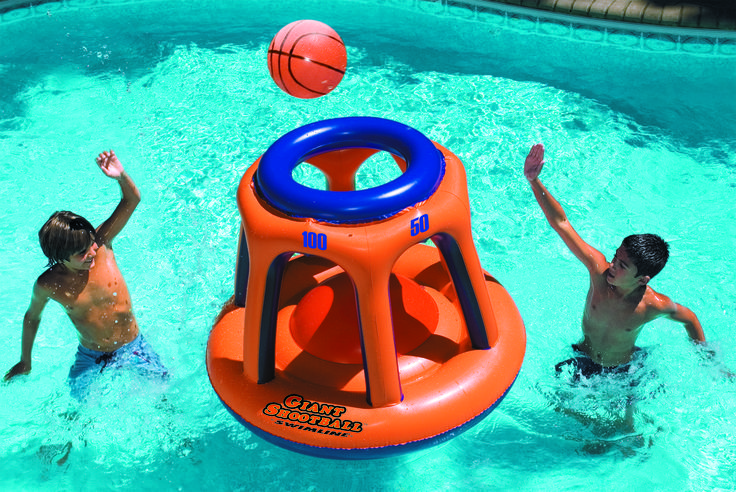Giant inflatable Basketball Hoop is a great Pool Game for all ages.