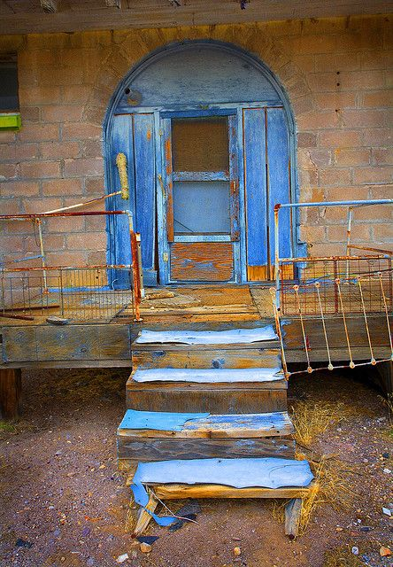 Abandoned train depot in the ghost town of Rhyolite, Nevada.