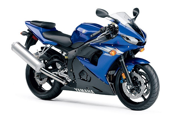 Yamaha YZF-R6 blue 2006-- this will be sitting in my drive way. :)