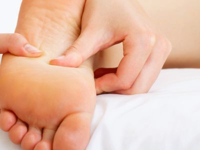 pointing therapy of foot
