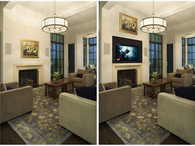 Hidden Tv In Living Room In About And Around The House Pinterest Hide Tv Room And Tv