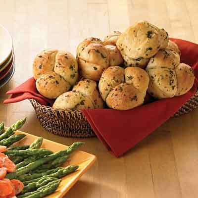 Using frozen bread dough is a quick creative way to make dinner rolls, perfect for serving to guests at holiday dinners.