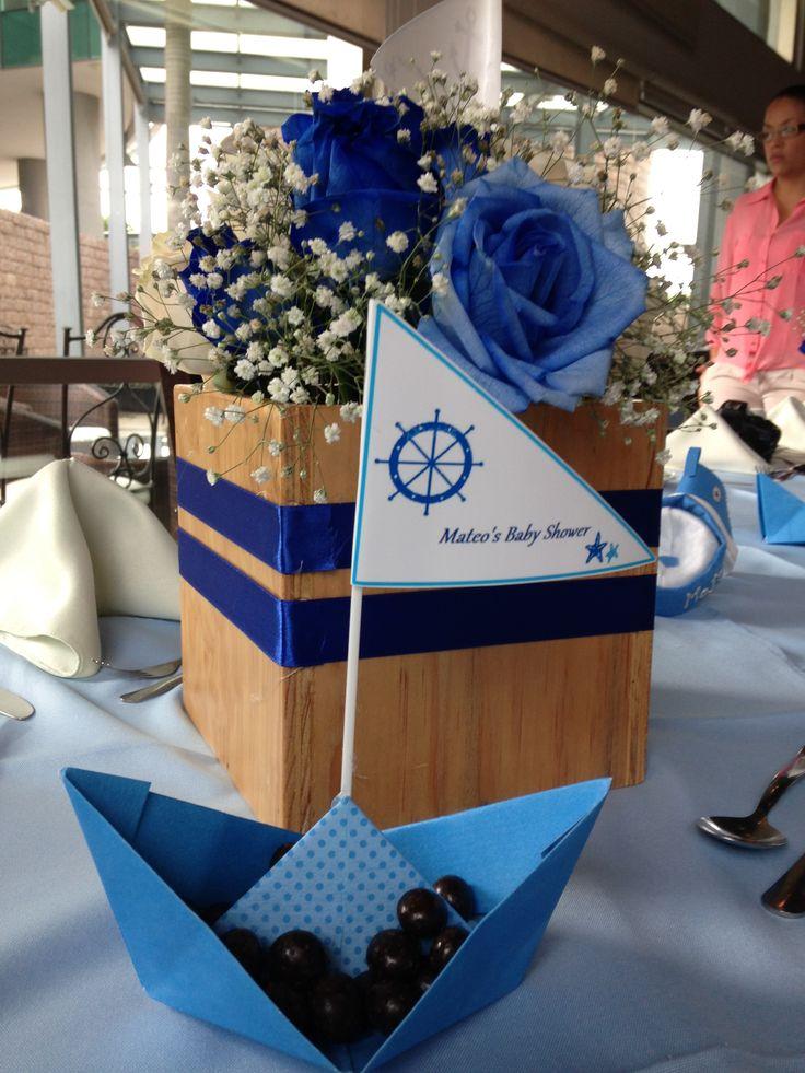 Elegant Sailor Centerpieces Baby Shower