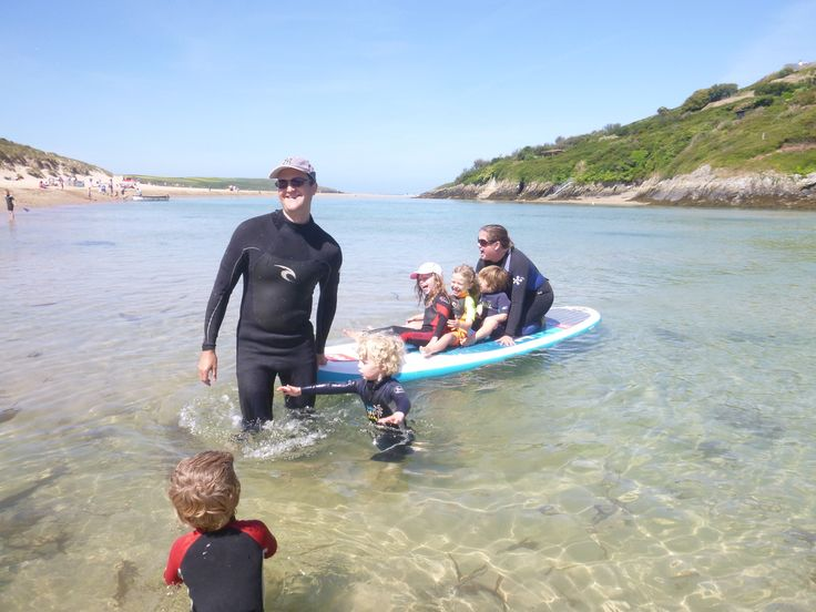 Family SUP hire fun in Crantock