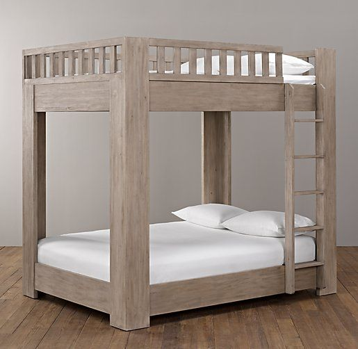 callum platform full over full bunk bed all beds restoration hardware baby - Bunk Beds For Kids Plans