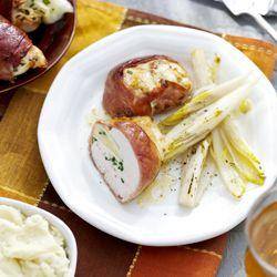 Kipfilet met brie en rauwe ham