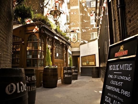Since 1546, The Ye Olde Mitre Tavern, London, England. A really hidden pub, also one of the oldest pub in Britain and also Europe that still exists today.