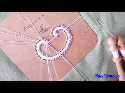 (311) Encaje de bolillos - Flor de Cantù - primera parte - YouTube