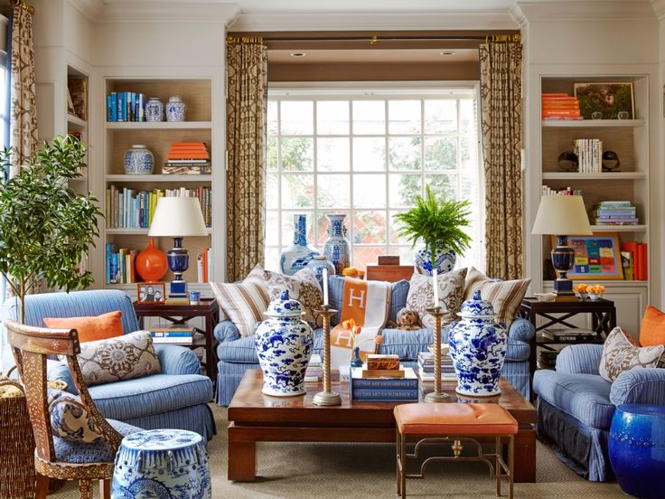 Mary McDonald In House Beautiful · Chinoiserie ChicLiving Room ...