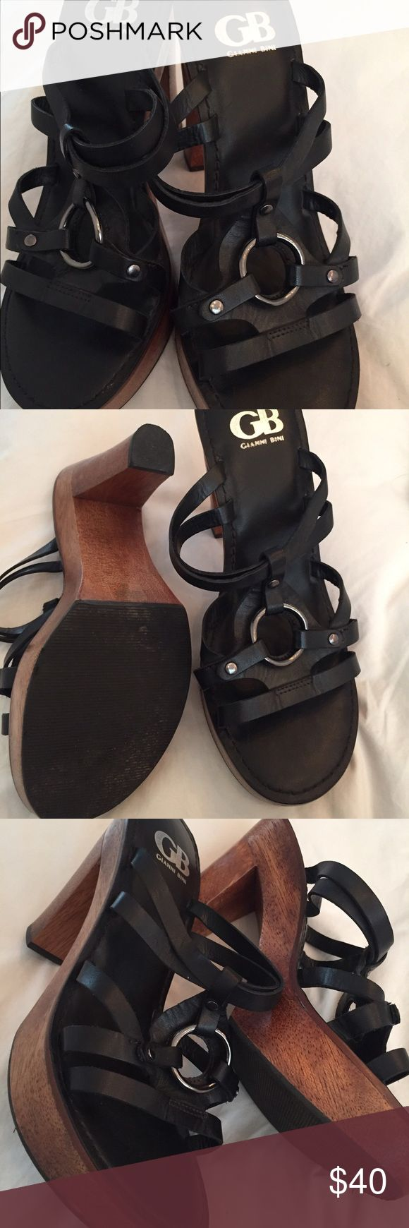 Amazing Gianni bini brand new! Wood heeled sandal Amazing Gianni bini brand new! Wood heeled sandal! Gianni Bini Shoes Sandals