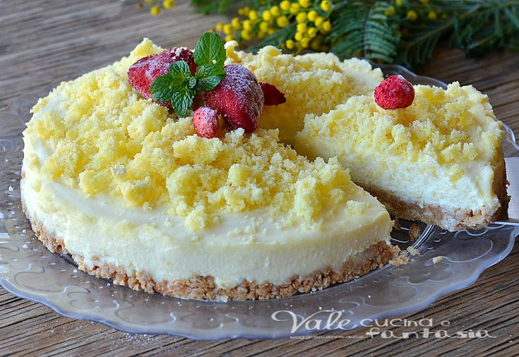 Cheesecake mimosa ricetta dolce facile