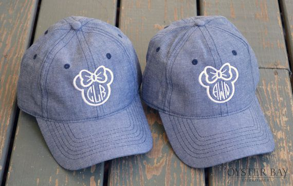 Disney Monogram / Disney Outfit / Minnie Mouse Monogrammed Hat / Monogrammed by OysterBayEmbroidery on Etsy