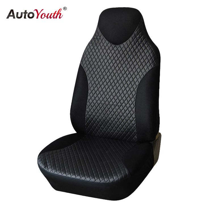 AUTOYOUTH PU Leather Car Seat Cover 1pcs Universal Fits Non- Detachable Headrest Car Styling Car Seat Protector