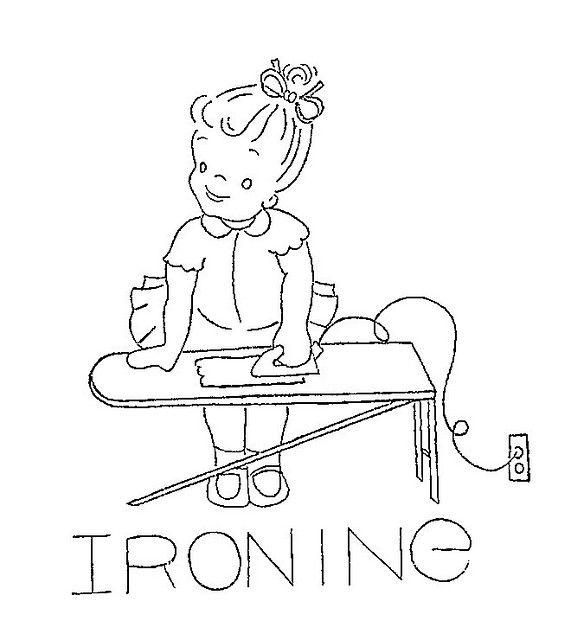 ironing- embroidery pattern