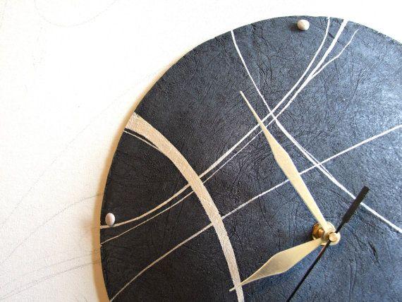 Modern Wall Clocks | Modern wall clock Stone clock made of paper mache Sea home decor ...