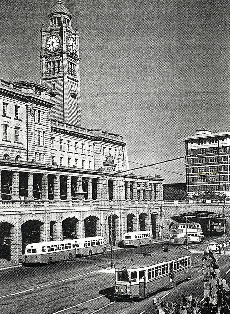 1957, Eddy Avenue, Sydney, Australia . Central Railway Station in back ground.v@e.