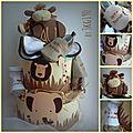 Gâteau de couches de la jungle Safary baby boy diaper cake - Babyshower idea - Baby gift Gâteau de couches garçon thème jungle - safary