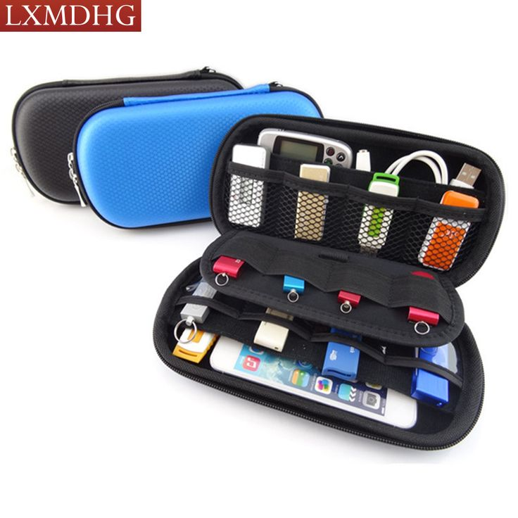 2017 Portable Digital Gadget Travel Storage Bag for U Disk, USB Data Cable,SD Card, Phone, Electronic Products Accessories Pouch