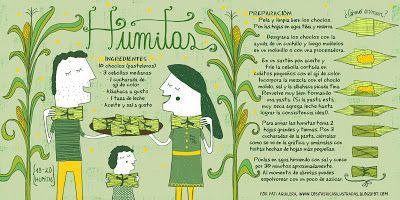 """receta especial para preparar una """"Humitas"""" en http://www.cositasricasilustradas.blogspot.mx/"""