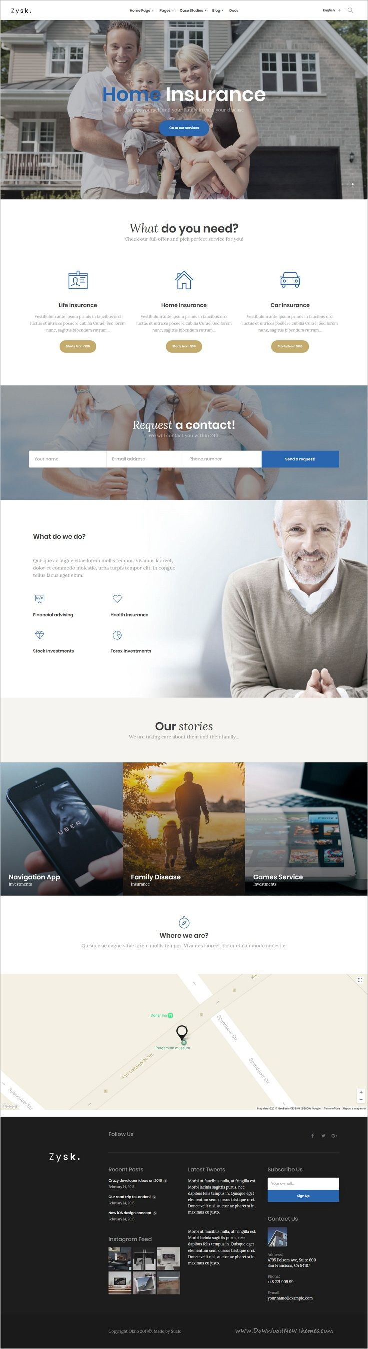 Zysk is smooth and stylish 7in1 responsive #WordPress theme for #insurance, business, #finance and consulting #services professional website download now..