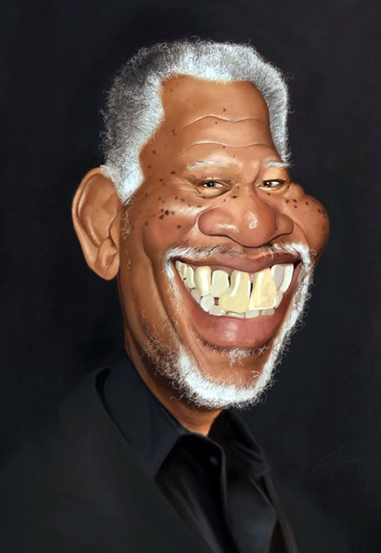 F Ab D D C E A F D Morgan Freeman Caricature Art