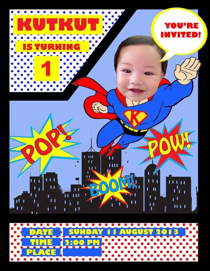 The 25 best ideas about Superman Party Theme – Superman Birthday Invitations