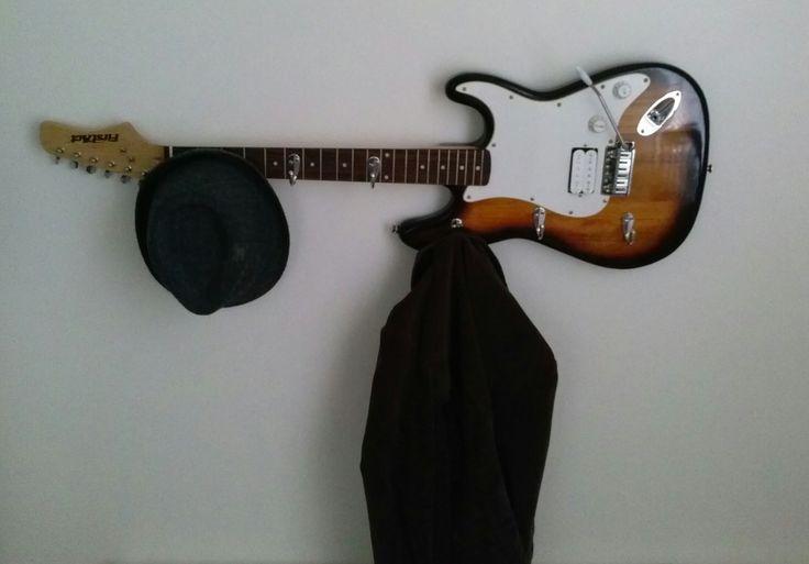 Repurposed Electric Guitar Into A Coat Garment Rack