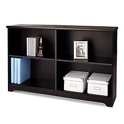 Realspace Magellan Collection 2 Shelf Sofa Bookcase 29 H x 47 14 W x 11 35 D Espresso by Office Depot & OfficeMax