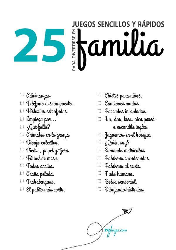 juegos sencillos para divertirse en familia