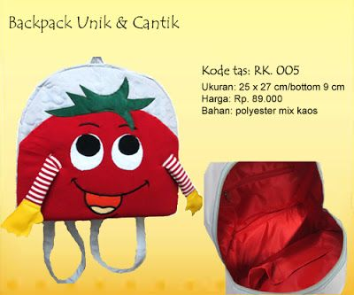 Backpack Red Tomatoes - RK. 005
