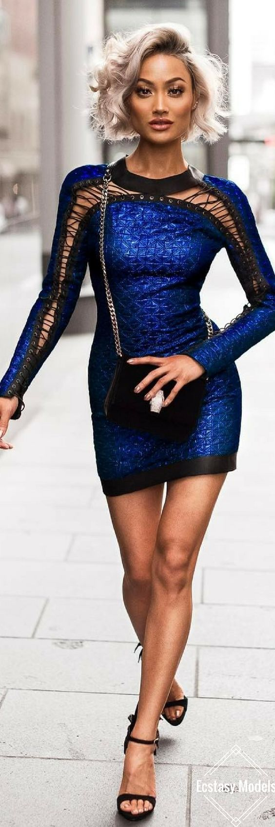 Royal Blue Balmain dress // Fashion Look by Micah Gianneli