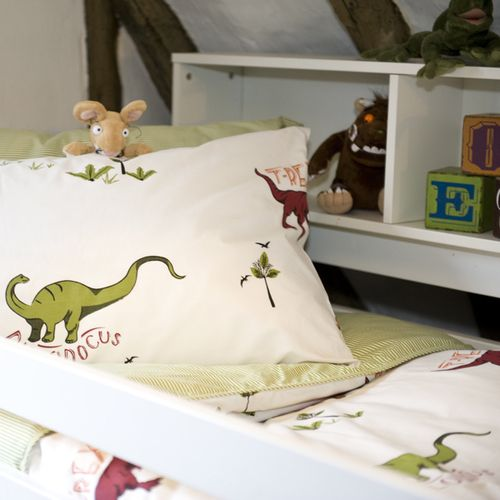 Jurassic Critters Organic Cotton Cot Bed Duvet Cover & Pillowcase