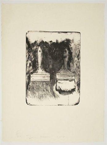 Brush Drawn on Stones #5 by Jim Dine