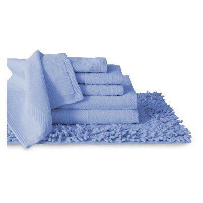 Baltic Linen Company Belvedere 7 Piece Cotton Towel & Rug Set Ocean Blue - 353624440