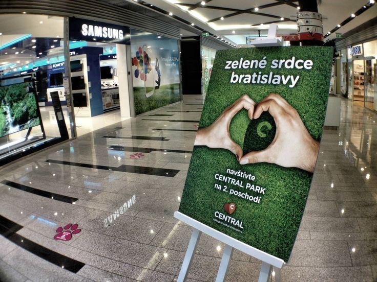 CENTRAL PARK: zelené srdce bratislavy (The green heart of bratislava). Poster.