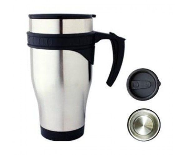 TRAVEL MUGS – M21  Price includes 1 color, 1 position print   2 Color imprint available for an additional charge  Decoration option: Pad print, Screen print, Laser engrave, Heat transfer  Printing Size: 40mm x 40 mm  Laser Engraving Size: 30mm x 40 mm