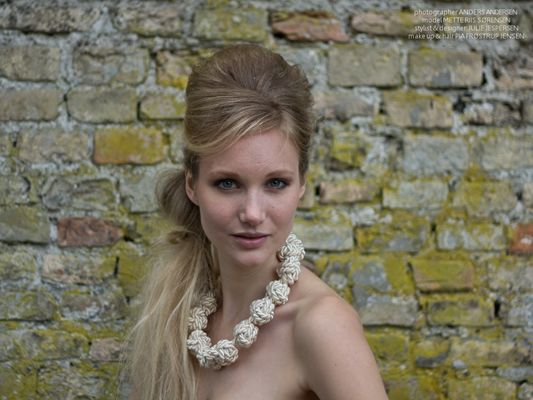 """Silk/cotton necklace with many knots    """"By it on my website ;o)"""""""