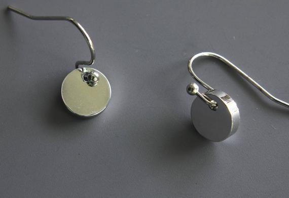 Thin Washer Earrings 14k Gold Filled Hammered Dangle Earrings Tiny Circle Earrings Dainty Minimalist Everyday Earrings