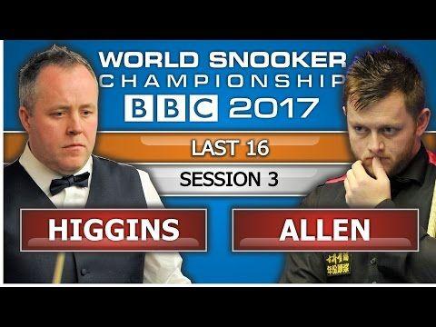John Higgins v Mark Allen ᴴᴰ World Snooker Championship 2017 L16 Session 3 - YouTube