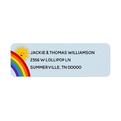 sunshine and rainbows address lable label return address