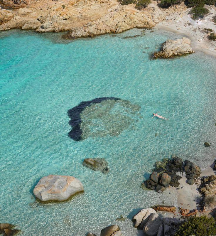 Caprera beach, La Maddalena, Sardinia, Italy - best beaches in Europe.