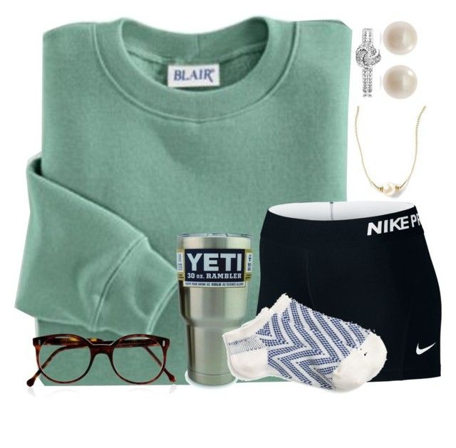 """""""Go Pack Go"""" by carolinaprep137 ❤ liked on Polyvore featuring Blair, NIKE, Links of London, Cutler and Gross and J.Crew"""