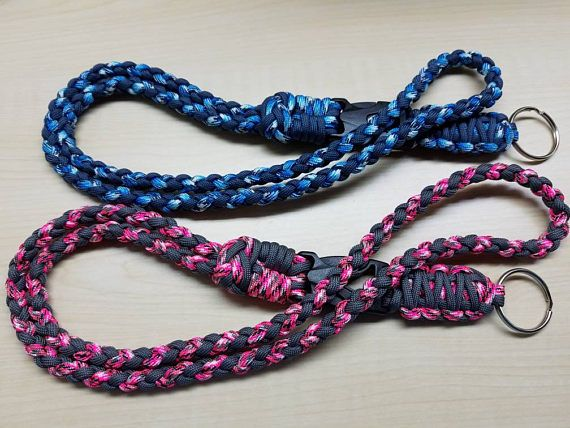 Check out this item in my Etsy shop https://www.etsy.com/listing/520171125/id-badge-paracord-lanyard-with-buckle