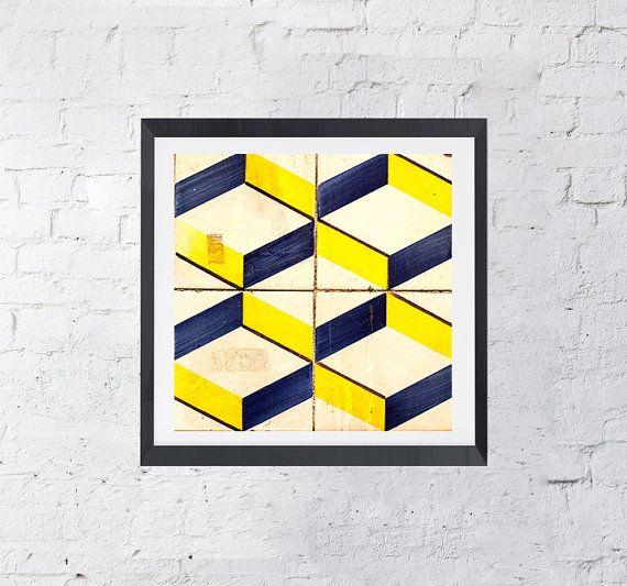 Azulejos Modern Portugal Design Lisbon Printable Art by KatieLuka