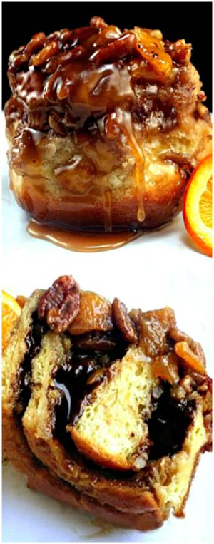 filled Orange Caramel Toasted Pecan Sticky Buns. These sticky buns ...