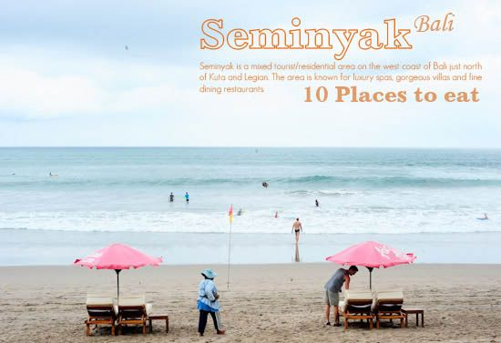 10 places to eat in seminyak