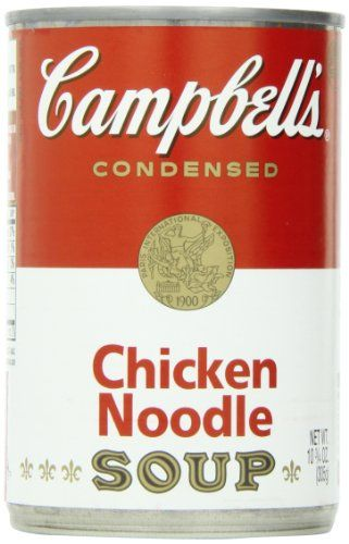 Campbell's Condensed Soup, Chicken Noodle, 10.75 Ounce (P... https://smile.amazon.com/dp/B00E9NZ9DC/ref=cm_sw_r_pi_dp_x_.SlJyb8DN0Z4J