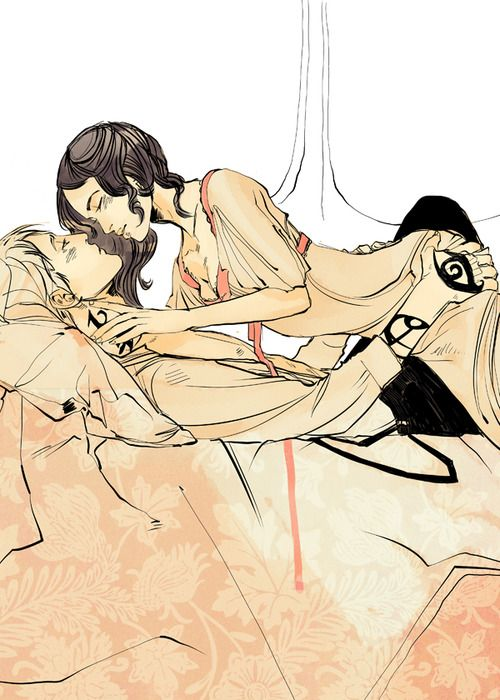 cassandraclare:  More Cassandra Jean sexytimes — Jem and Tessa in Clockwork Prince.