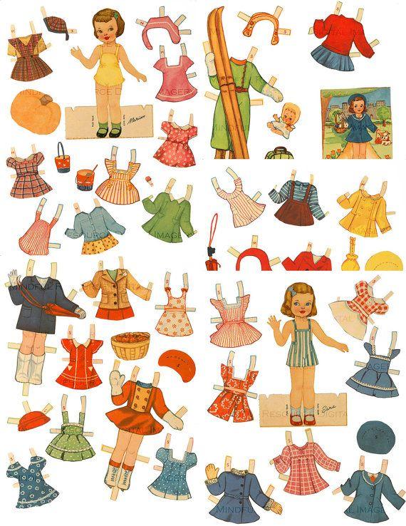 années 1940 rétro enfants filles et papier Vintage garçon Paper Doll Set - imprimable Digital Download - poupée - poupée de papier rétro - filles papier Party Supply Acheter le jeu et économisez ! William, Marion, Emma, Isabel, Sara 5 poupées et 82 costumes  Ces feuilles numérique de poupée de papier coloré sont prêts pour le téléchargement. Images sont transmises à vous dans les 24h de paiement. Vous allez télécharger des fichiers zip contenant tous les fichiers JPEG (il sagit dun grand…